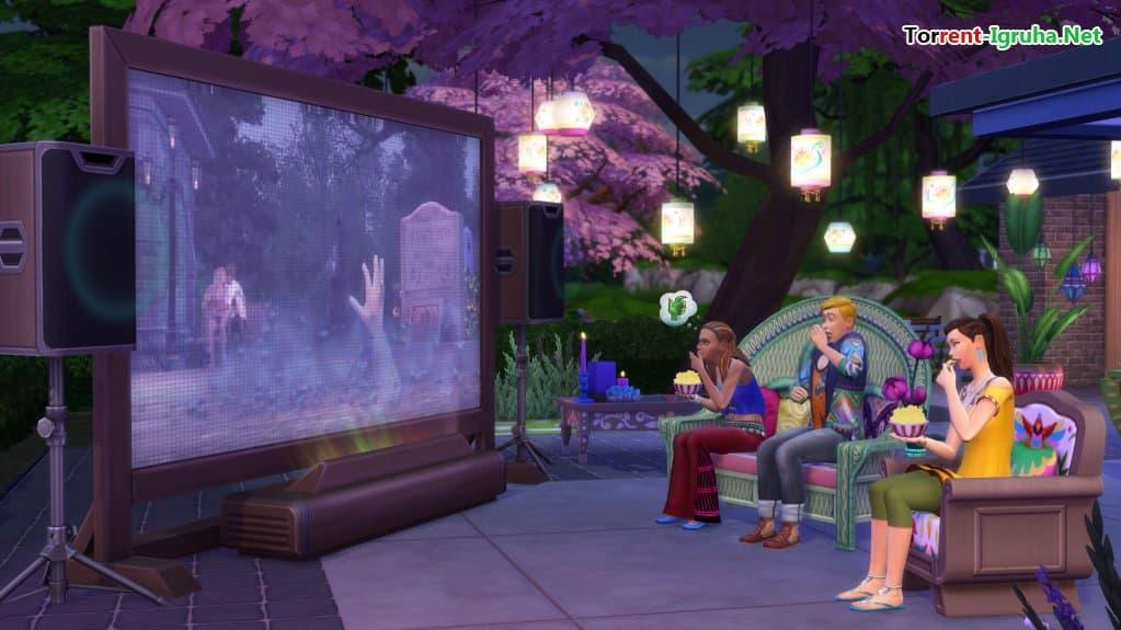 Каталог the sims 4 домашний кинотеатр.
