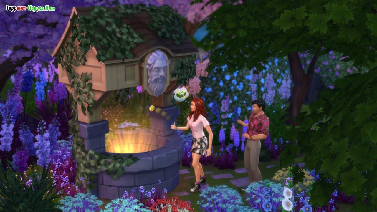 Скачать торрент симс 4 романтический сад.