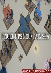 Fingertips mountain sea